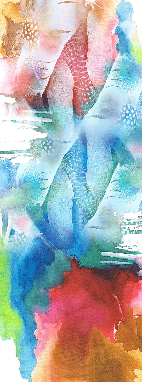 R Culturi Feathers Scarf Original Artwork