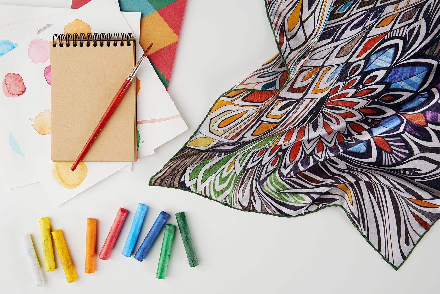 R. Culturi Colorful Wind Pocket Square