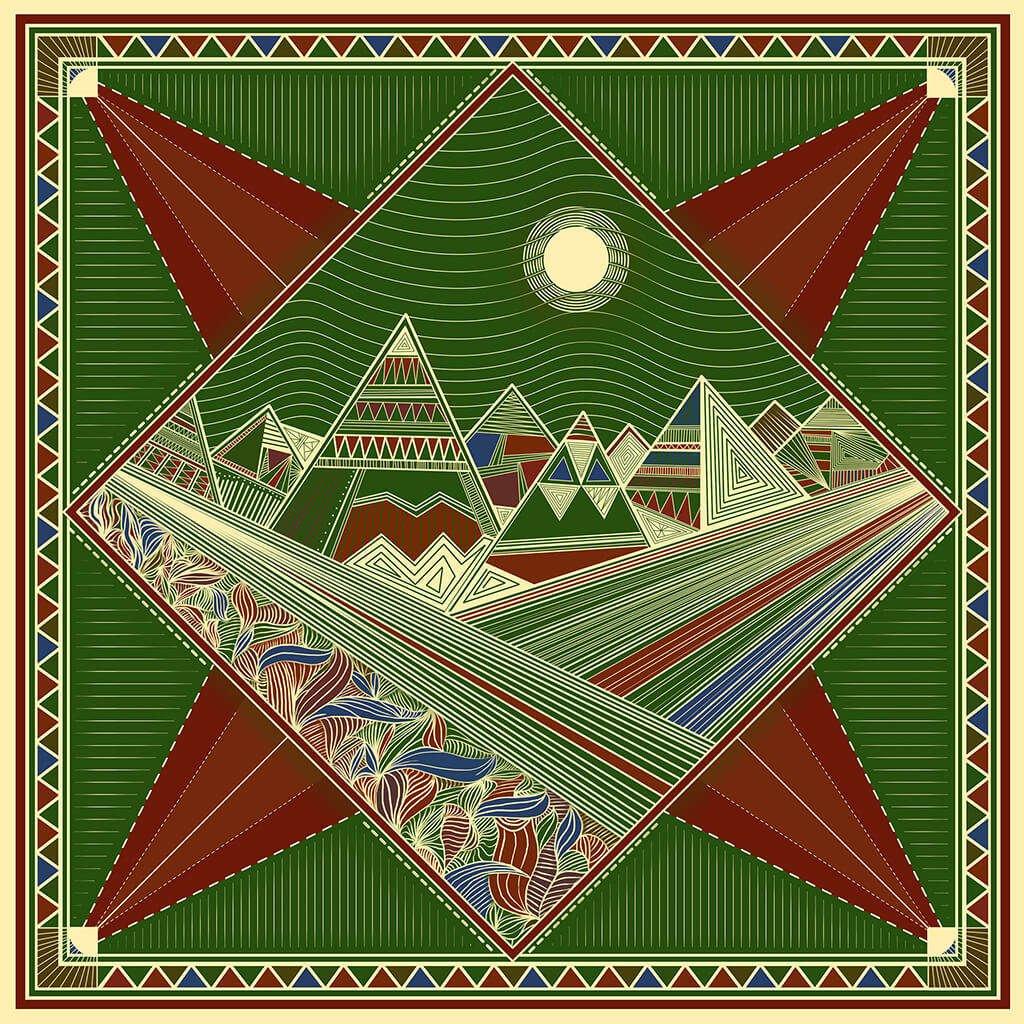 R Culturi Carpathians Pocket Square Original Artwork