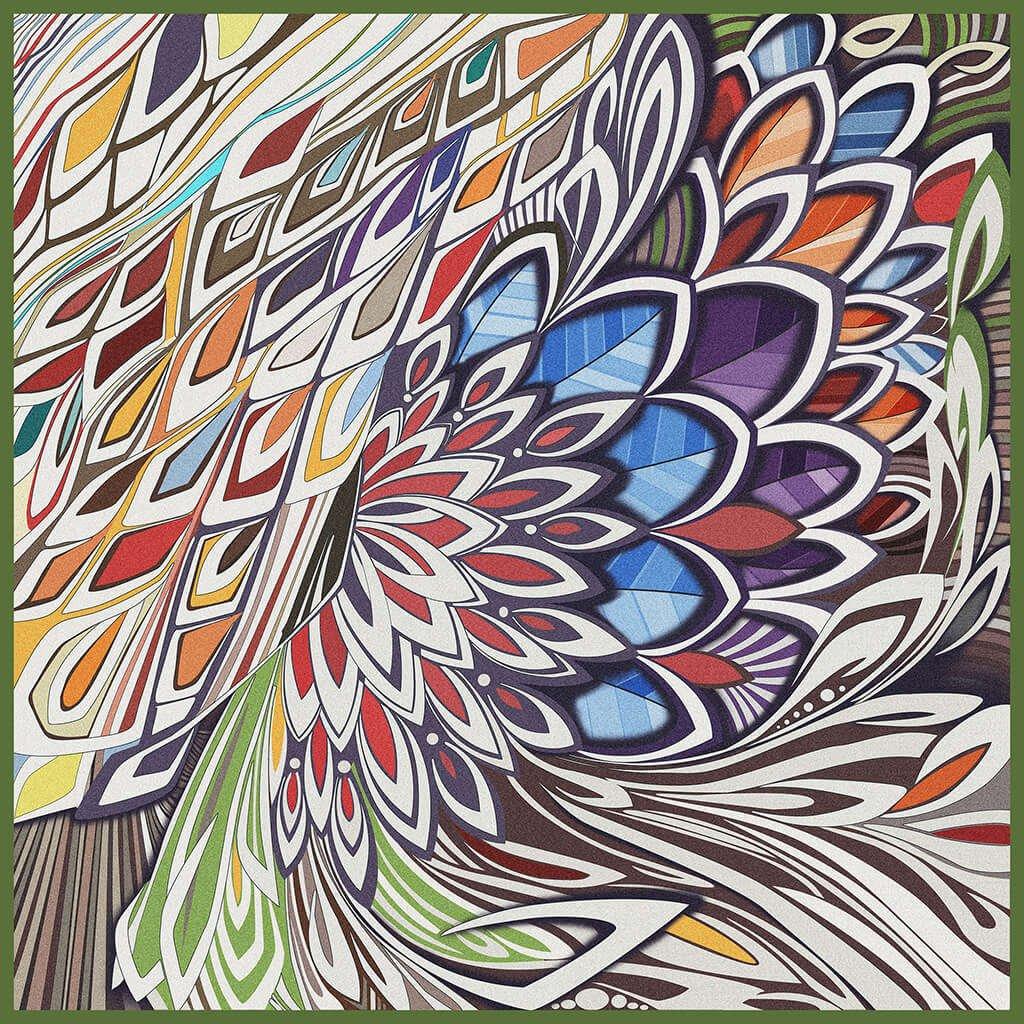 R Culturi Colorful Wind Pocket Square Original Artwork