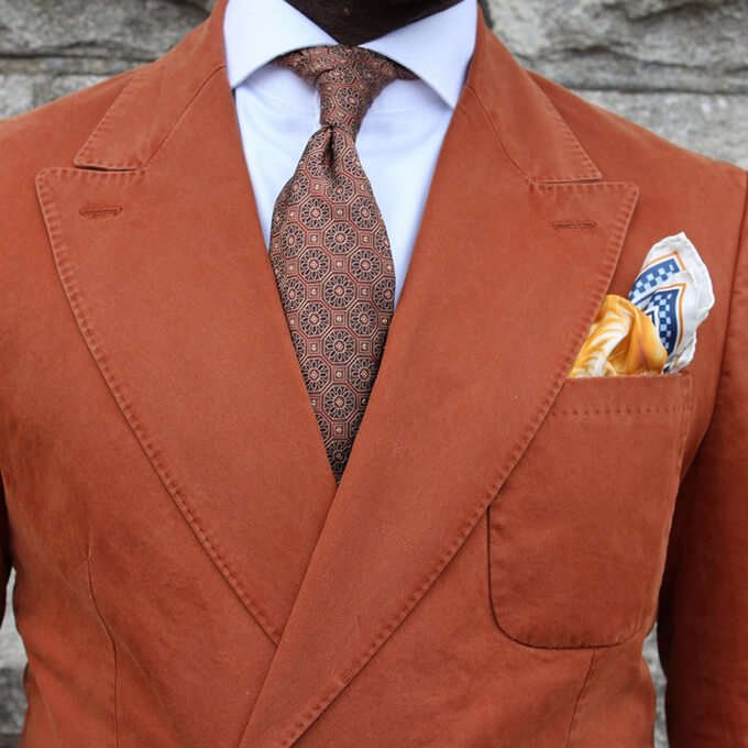 A Curated Man with R. Culturi Knight's Move Pocket Square