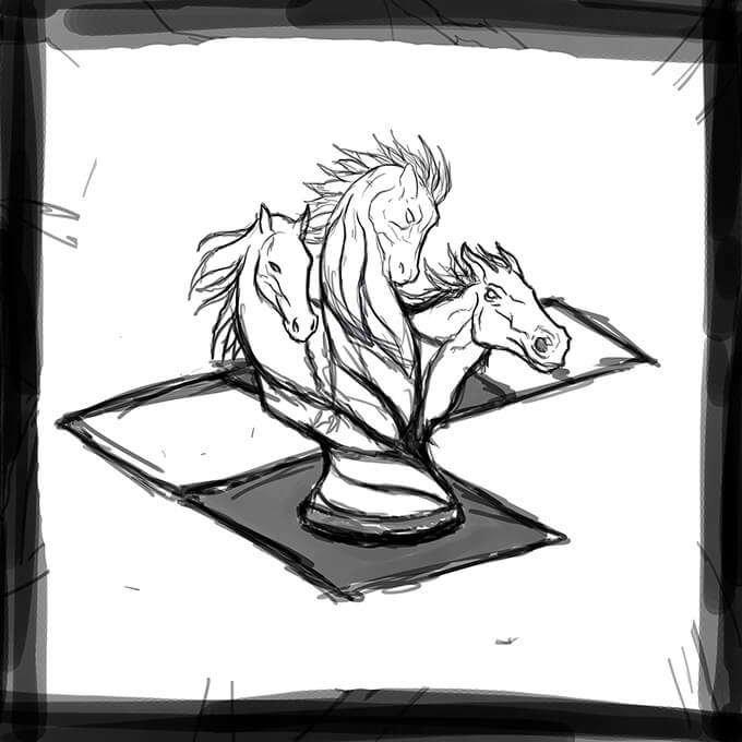 R. Culturi Knight's Move Pocket Square Draft 1