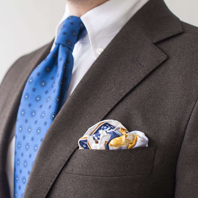 The Nordic Fit with R. Culturi Knight's Move Pocket Square