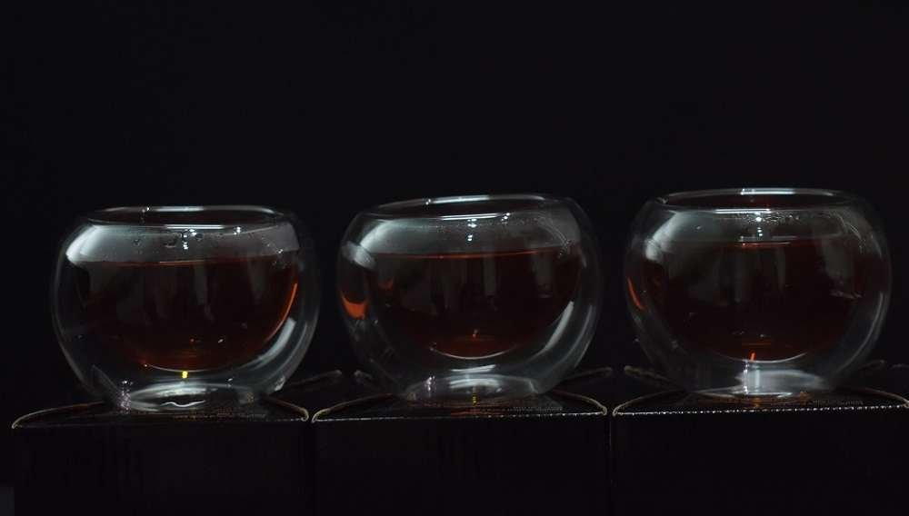 Set of 4 Double Walled Kava Tea Cups