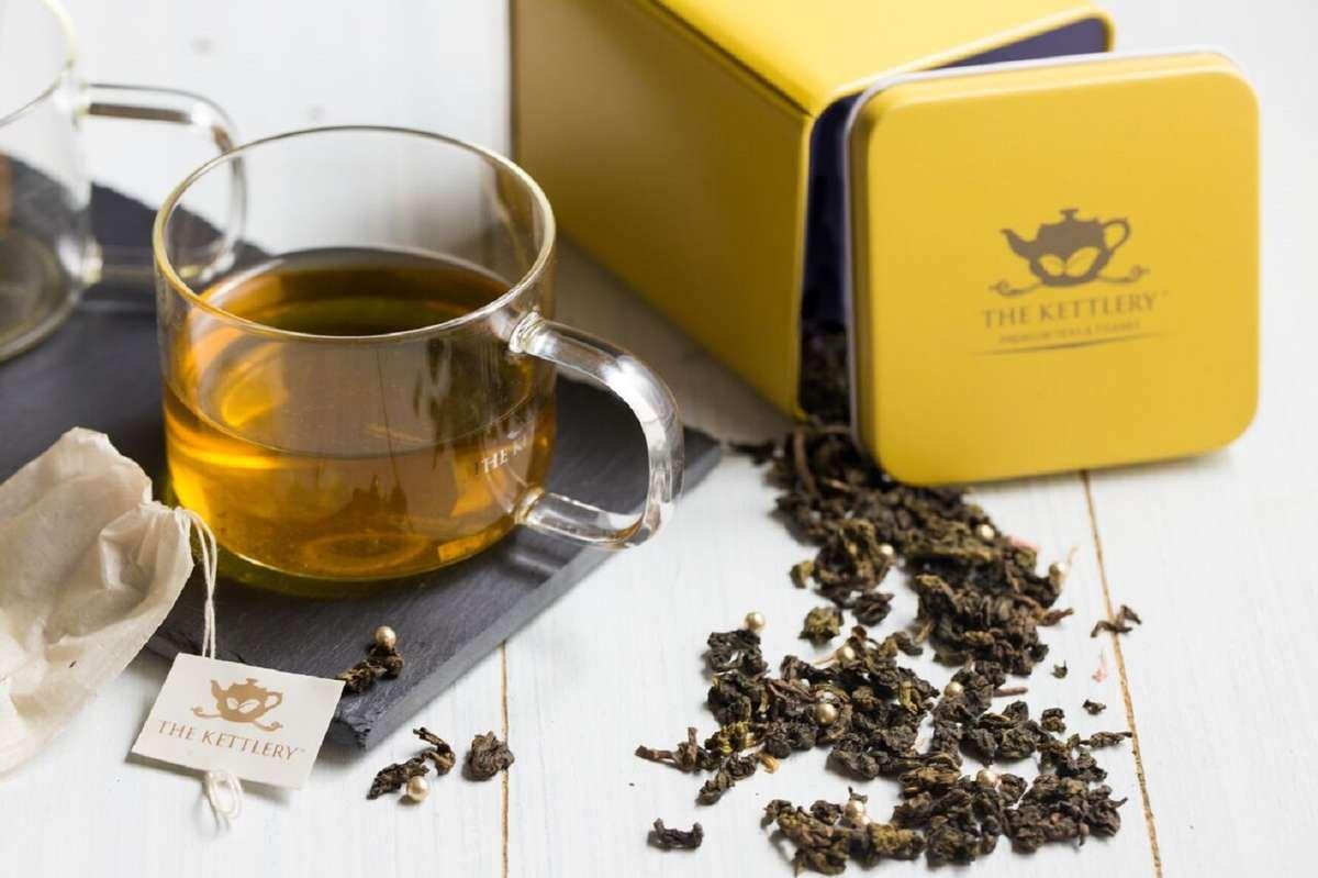 Yellow Tea Storage Tins