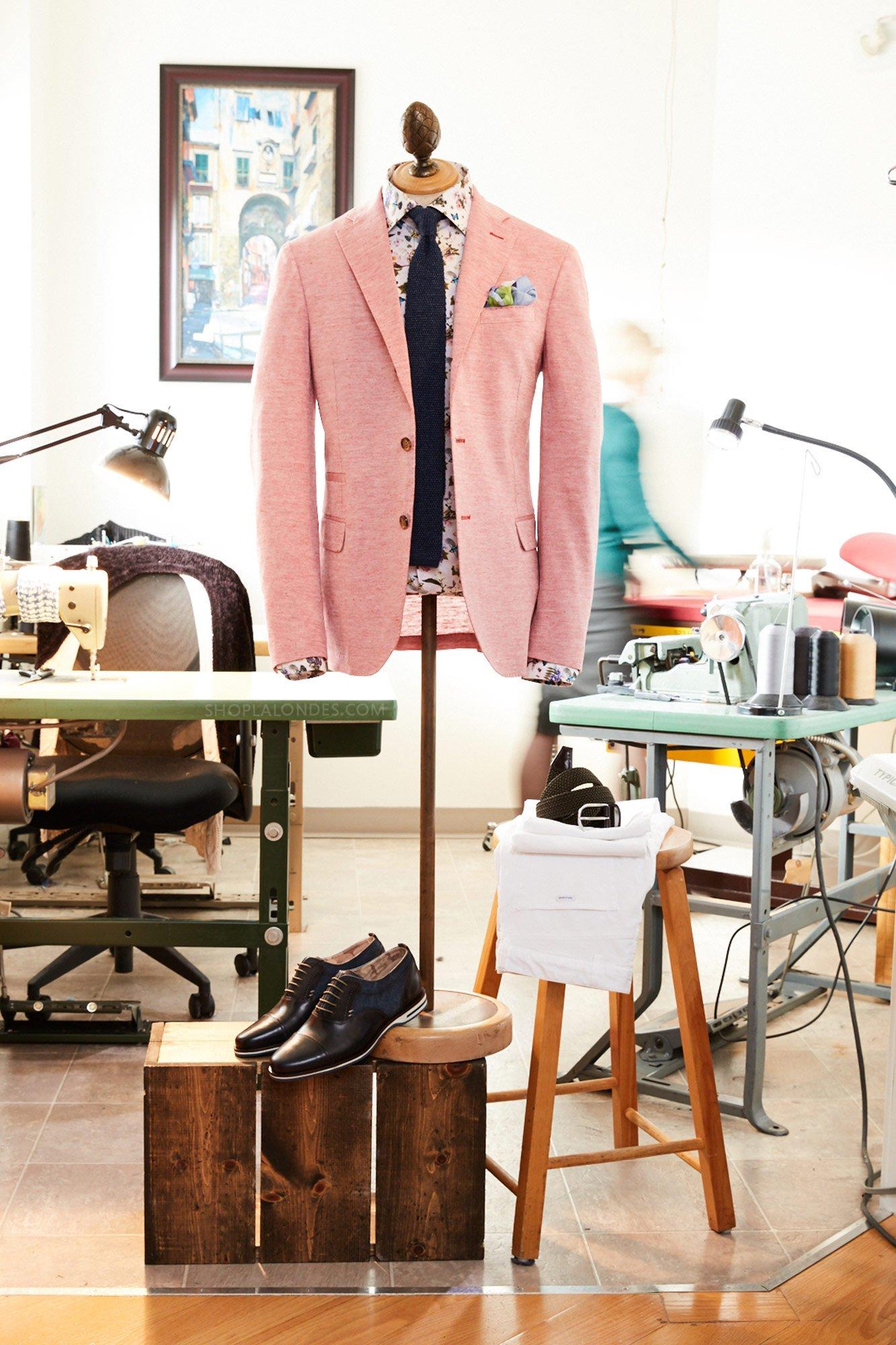 Eleventy Linen Cotton Jacket Eton Flora Fauna Shirt Lloyd Shoes Anderson's LALONDE's