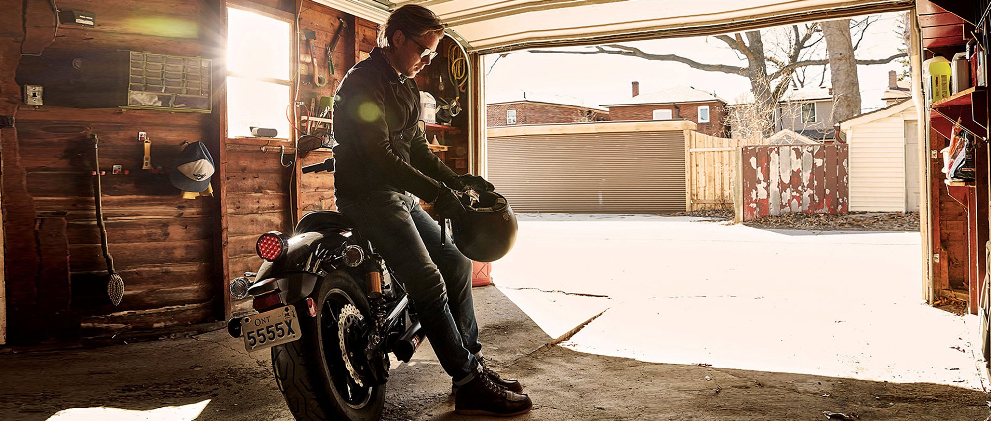 Denham Leather Double Rider Moto Jacket Garage Gregory Lalonde LALONDEs