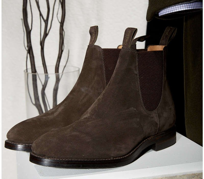 Loake 1880 Dark Brown Suede Chelsea Boots - LALONDE's