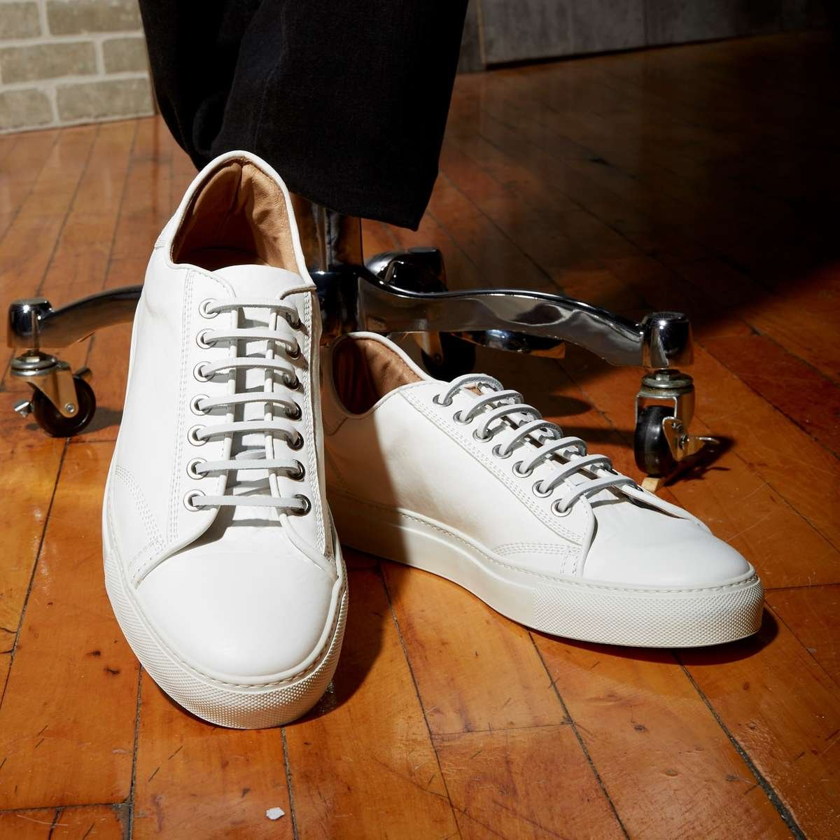 WINGS+HORNS CLASSIC LOW WHITE SNEAKER