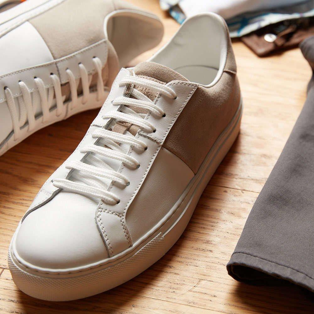Eleventy Suede White Sneaker