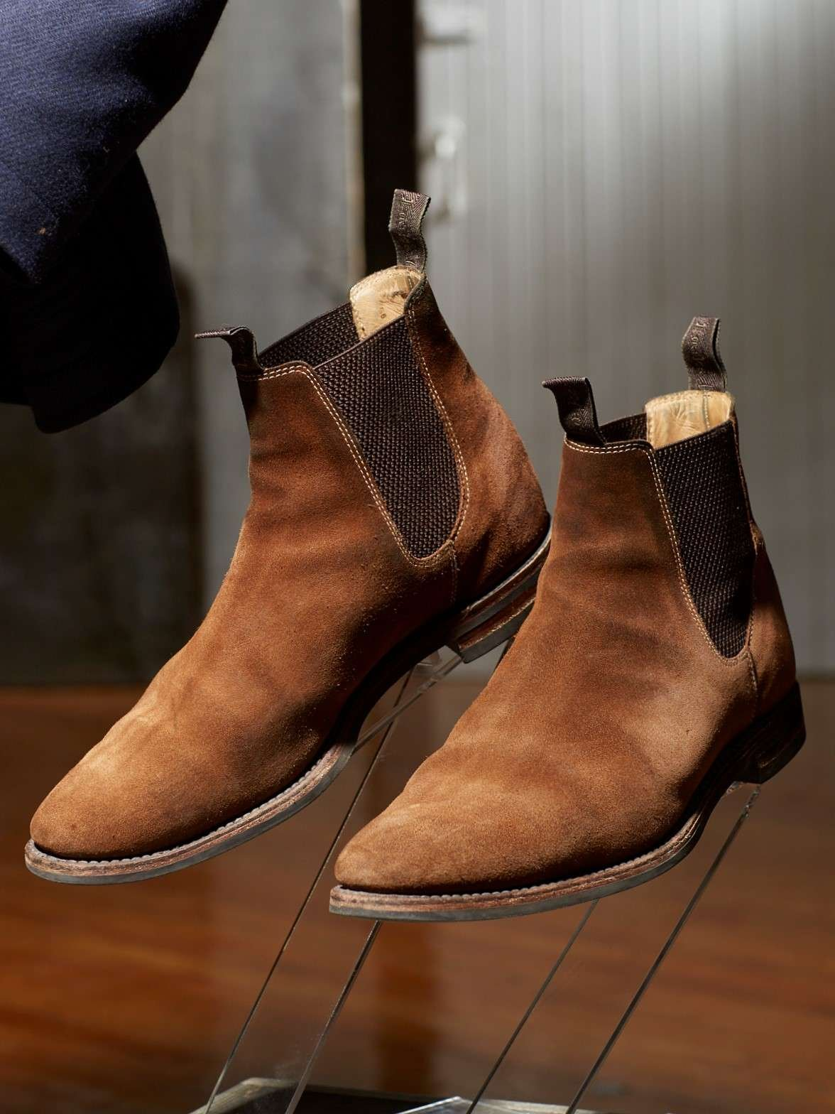 LOAKE 1880 CHATSWORTH TAN SUEDE CHELSEA BOOT