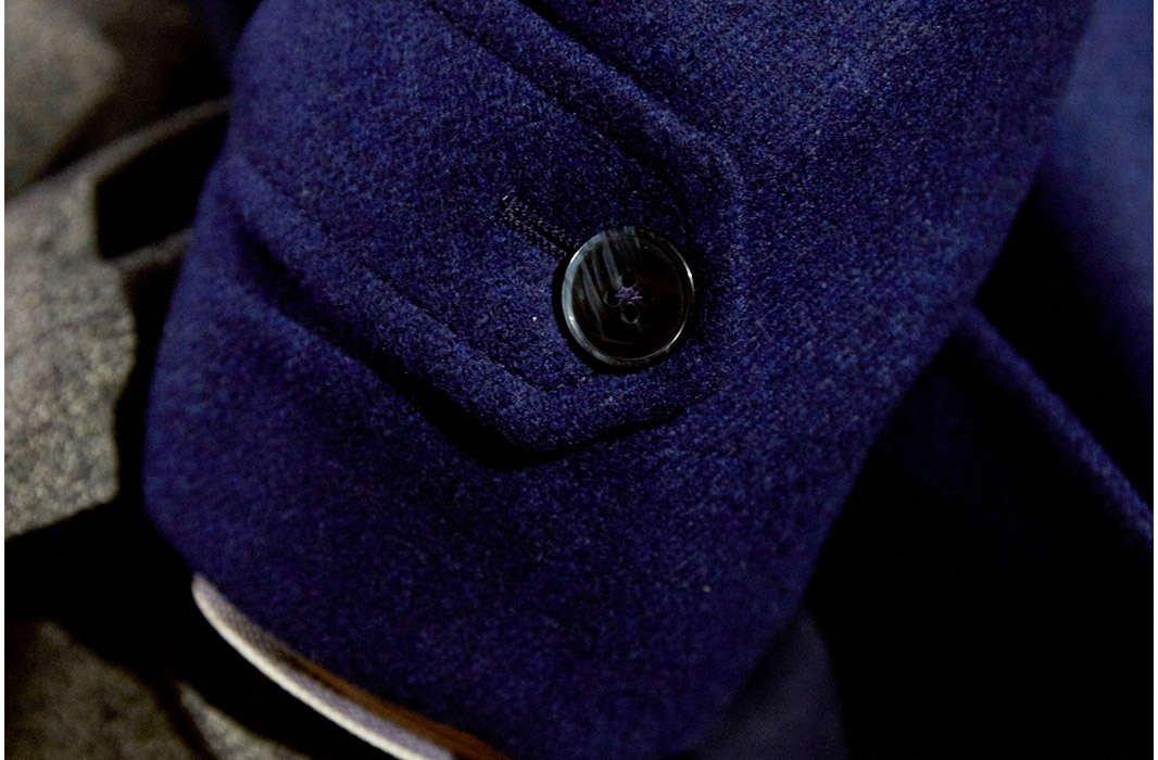 Luigi Bianchi Mantova Cobalt Blue Super 130's Topcoat - LALONDE's
