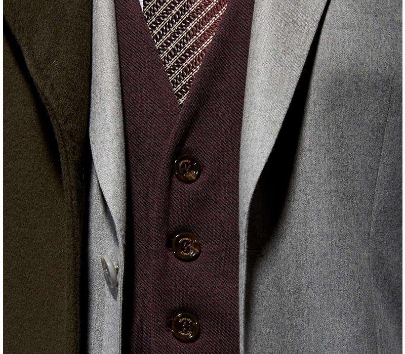 Eleventy Twill Knit Vest - LALONDE's