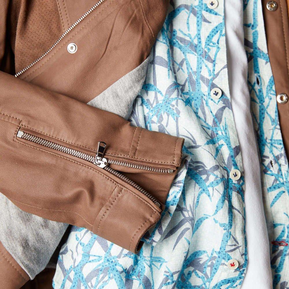 Eleventy Leather Spring Jacket. Lalonde's Oakville, Toronto, Canada