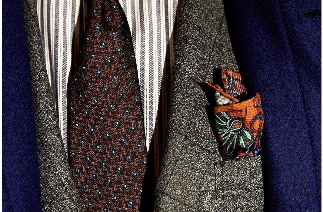 DRAKE's Flower Print Tie - LALONDE's