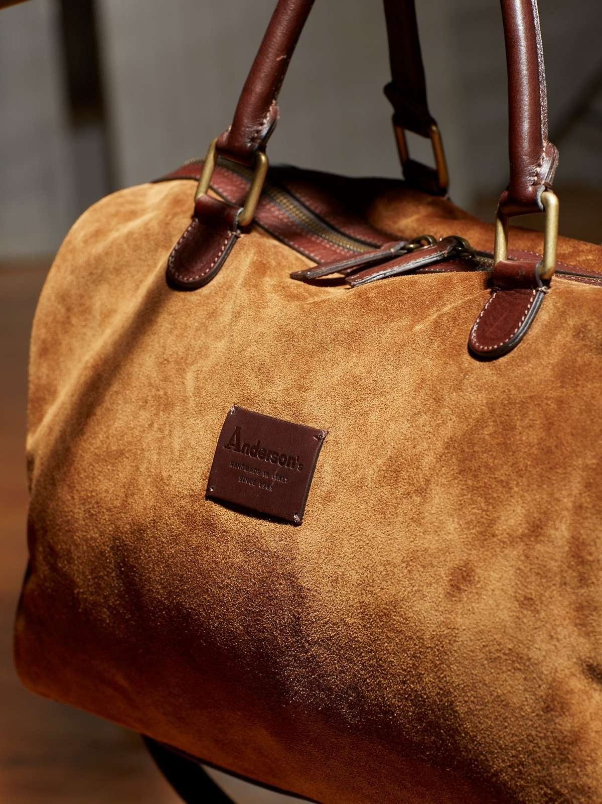 ANDERSON'S SUEDE OVERNIGHTER DUFFEL BAG