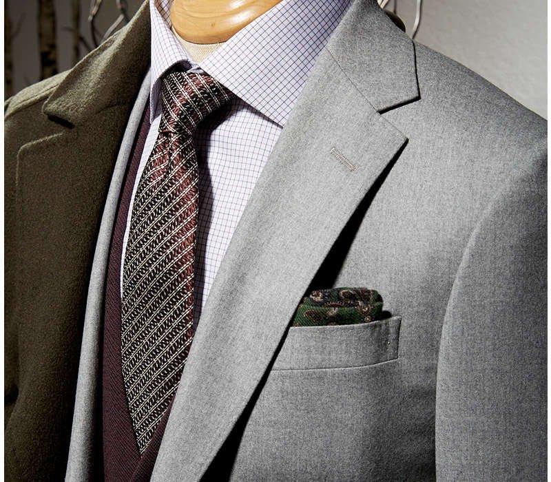 Z Zegna Light Grey Flannel Suit - LALONDE's