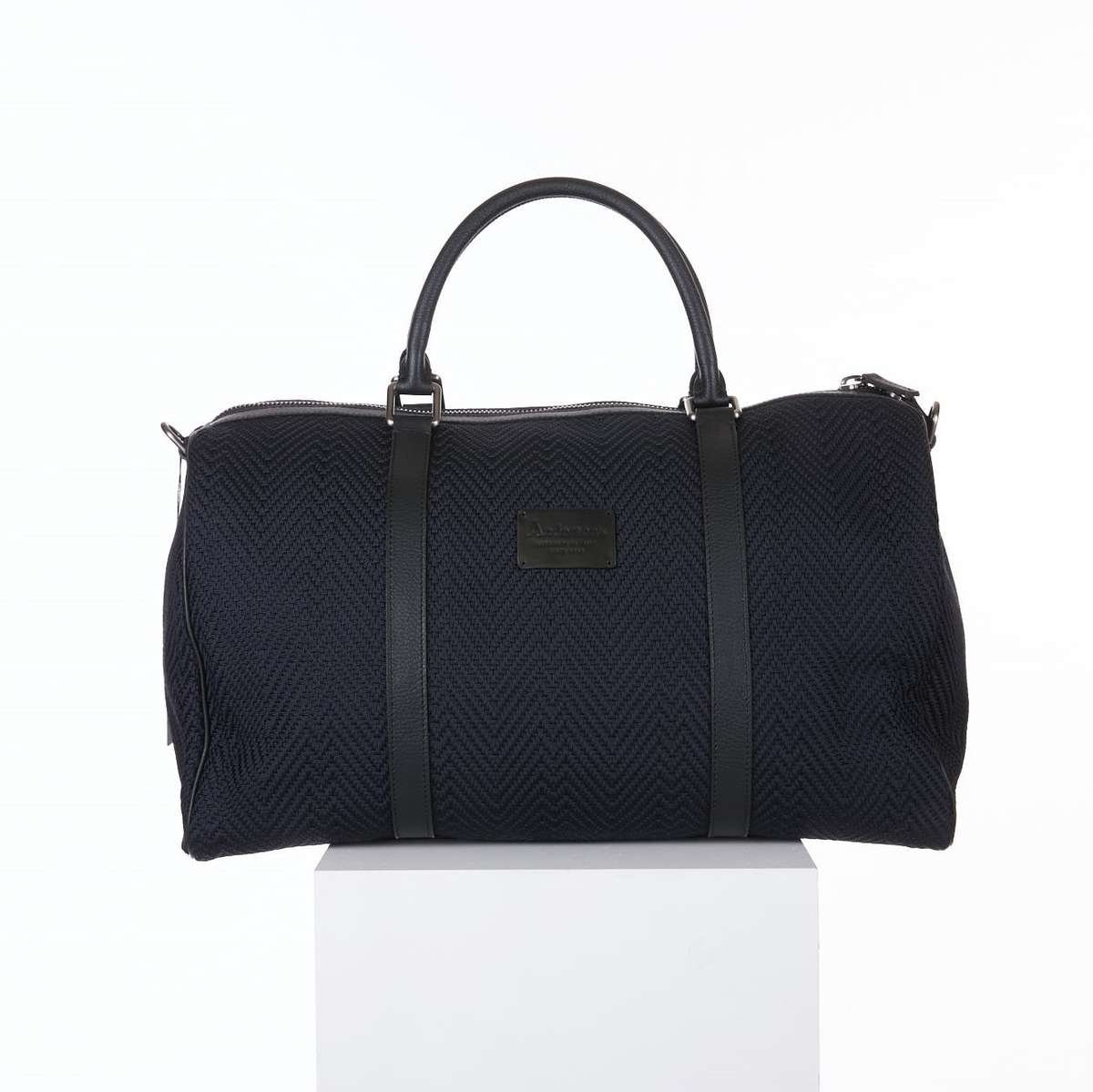 ANDERSON'S NAVY WOVEN DUFFLE BAG
