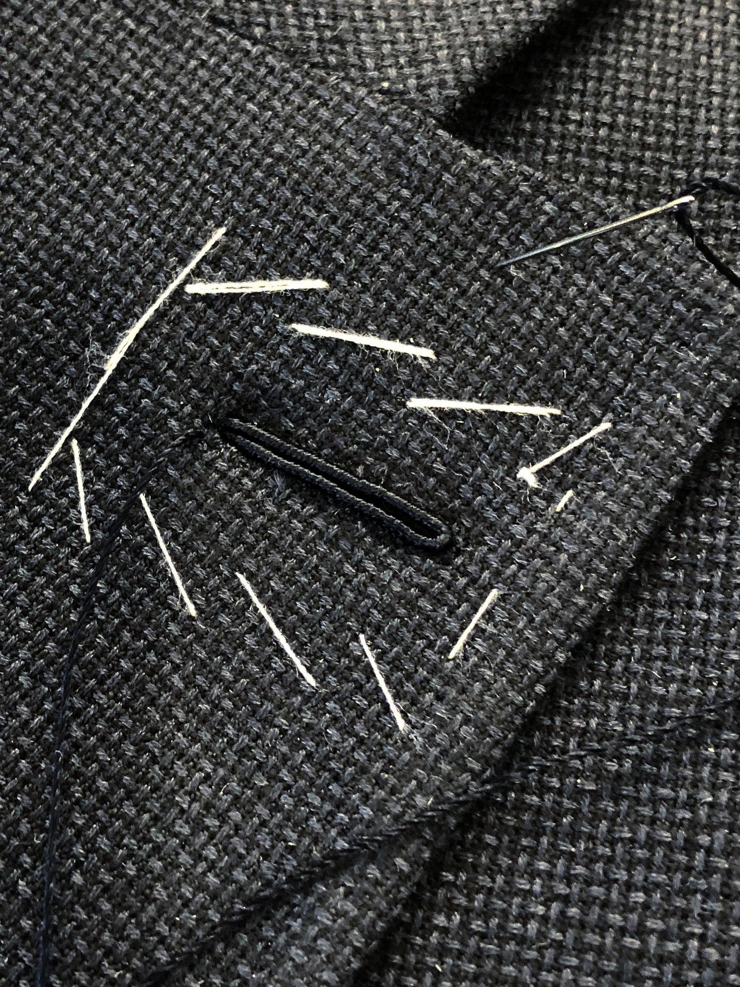 Sartoria Sciarra, cerruti wool and cashmere hopsack fabric, navy bespoke jacket, bespoke tailor, Sydney tailoring, Italian bespoke tailoring, Milanese lapel hole, hand made button hole, artisan craftsmanship, luxury bespoke tailoring, luxury tailor, Italian elegance