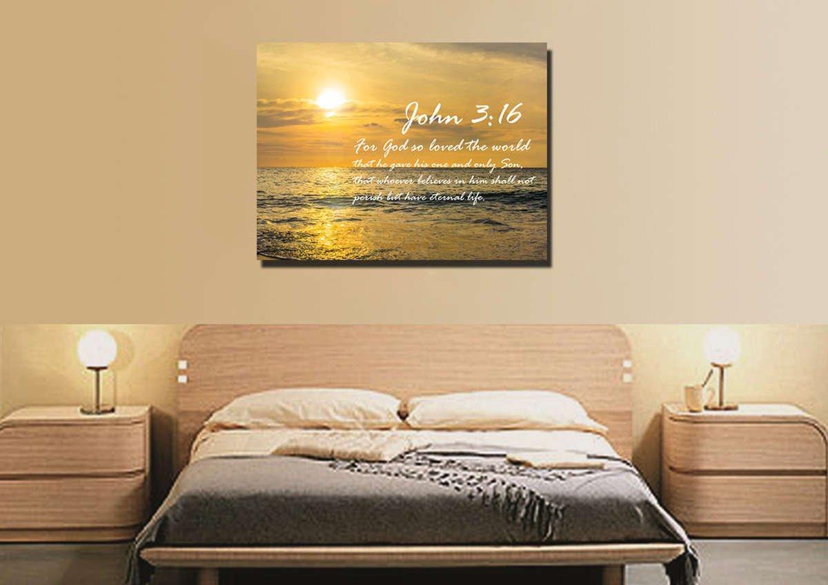 John 3:16 NIV #3 Bible Verse Canvas Wall Art – Christian Walls
