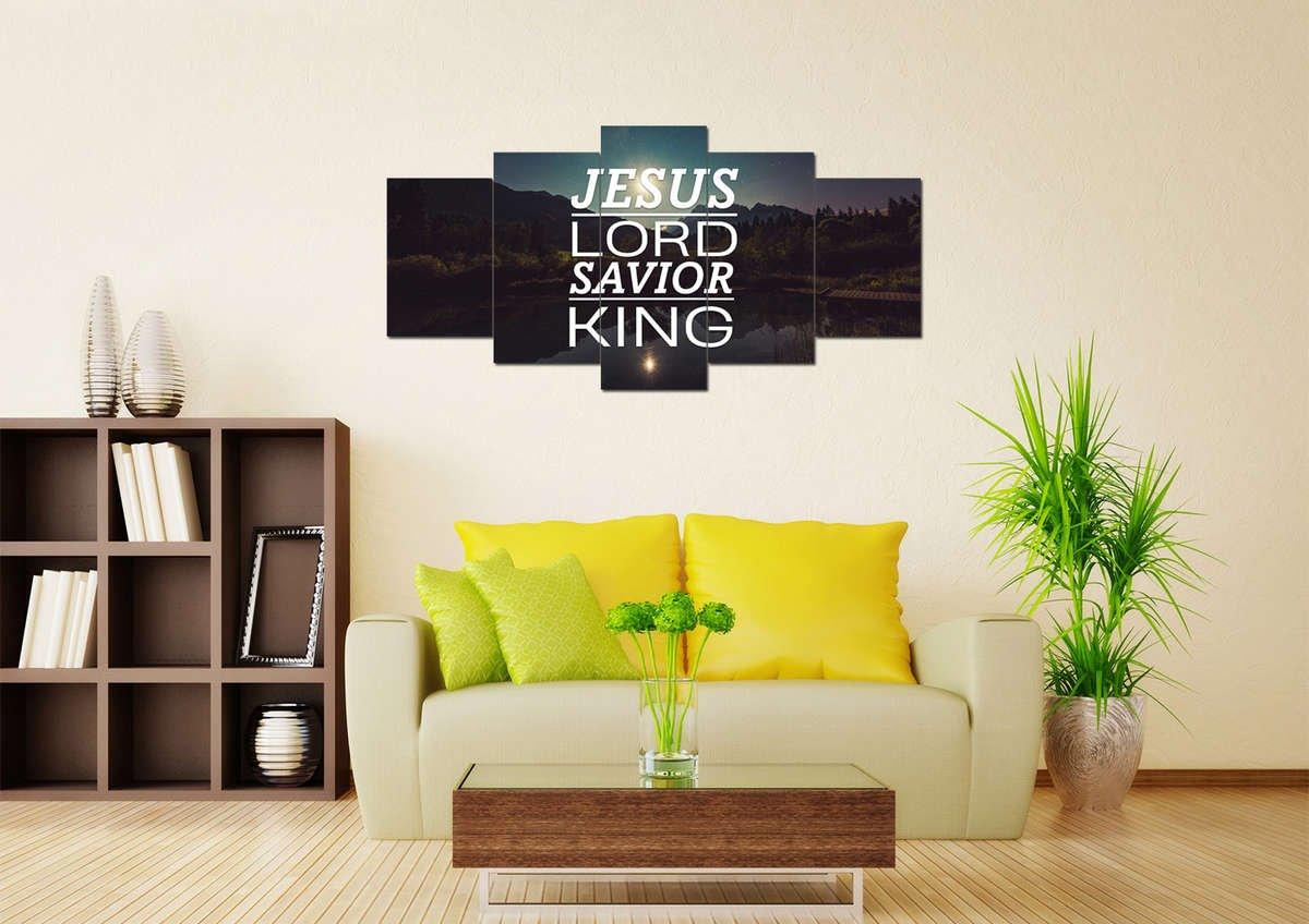 Jesus Lord Savior King Christian Quotes Wall Art Canvas – Christian ...