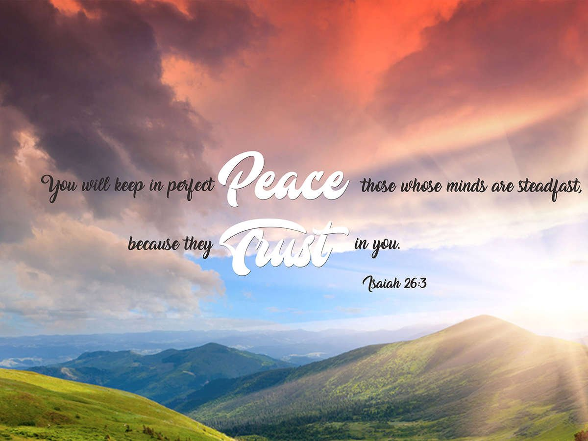 Isaiah 26 3 Niv Keep In Perfect Peace Bible Verse Canvas