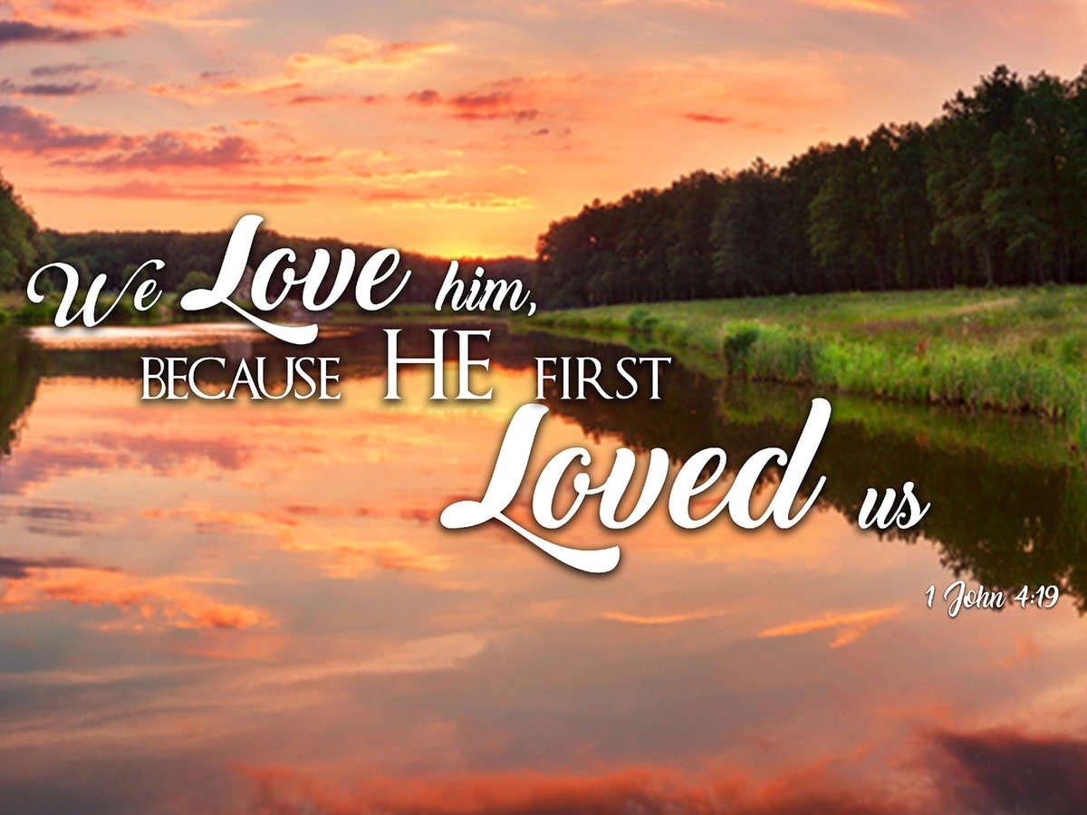 1 John 4 19 Kjv He First Loved Us Bible Verse Canvas Wall