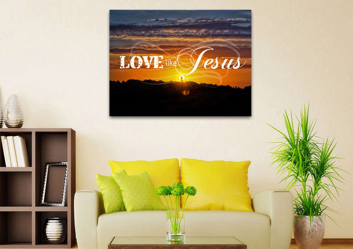 Love like Jesus Christian Quotes Wall Art Canvas – Christian Walls