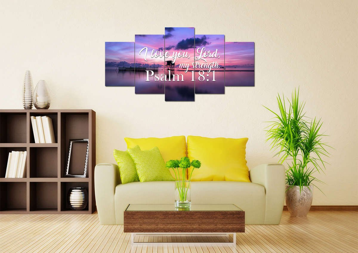 Psalm 18:1 I Love you Lord, My Strength - Bible Verse Wall Art ...