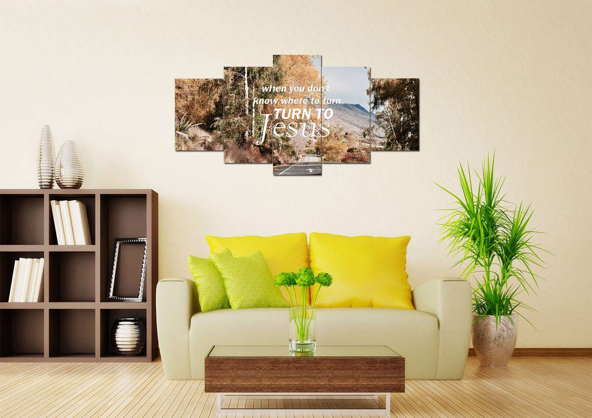When you don\'t know where to turn Christian Quote Wall Art Canvas ...