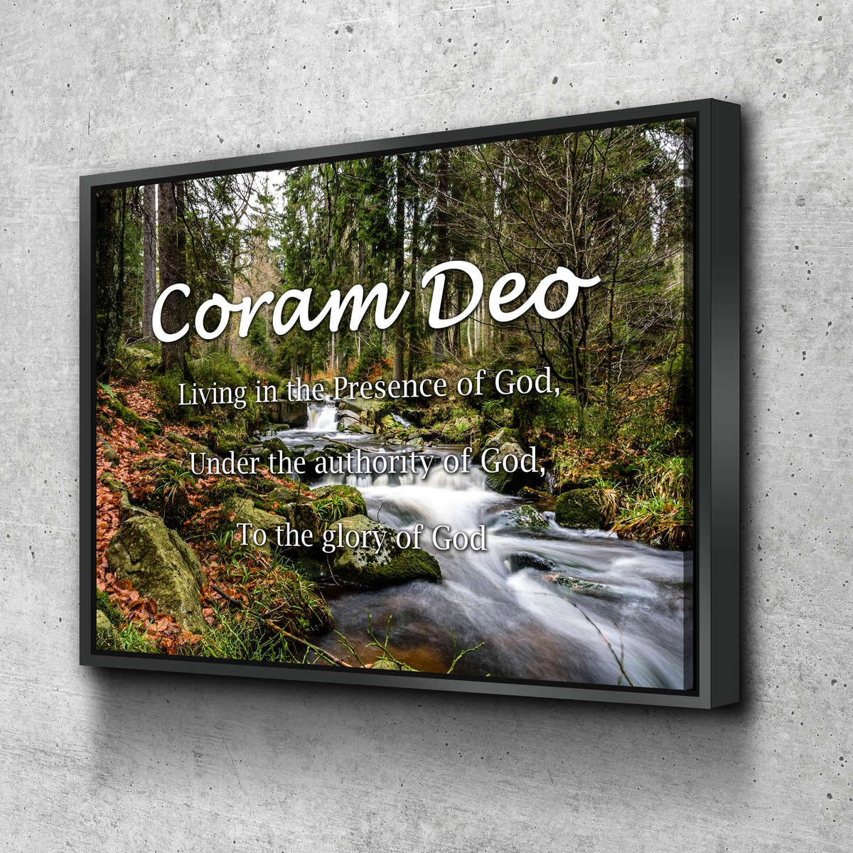 Coram-Deo-art-with-black-frame-is-great-wall-decor