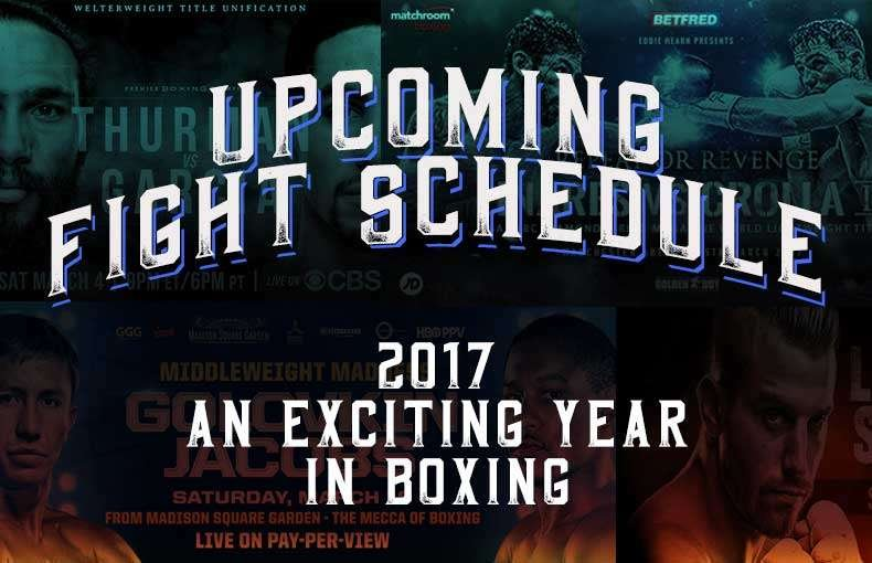 BOXING FIGHT SCHEDULE