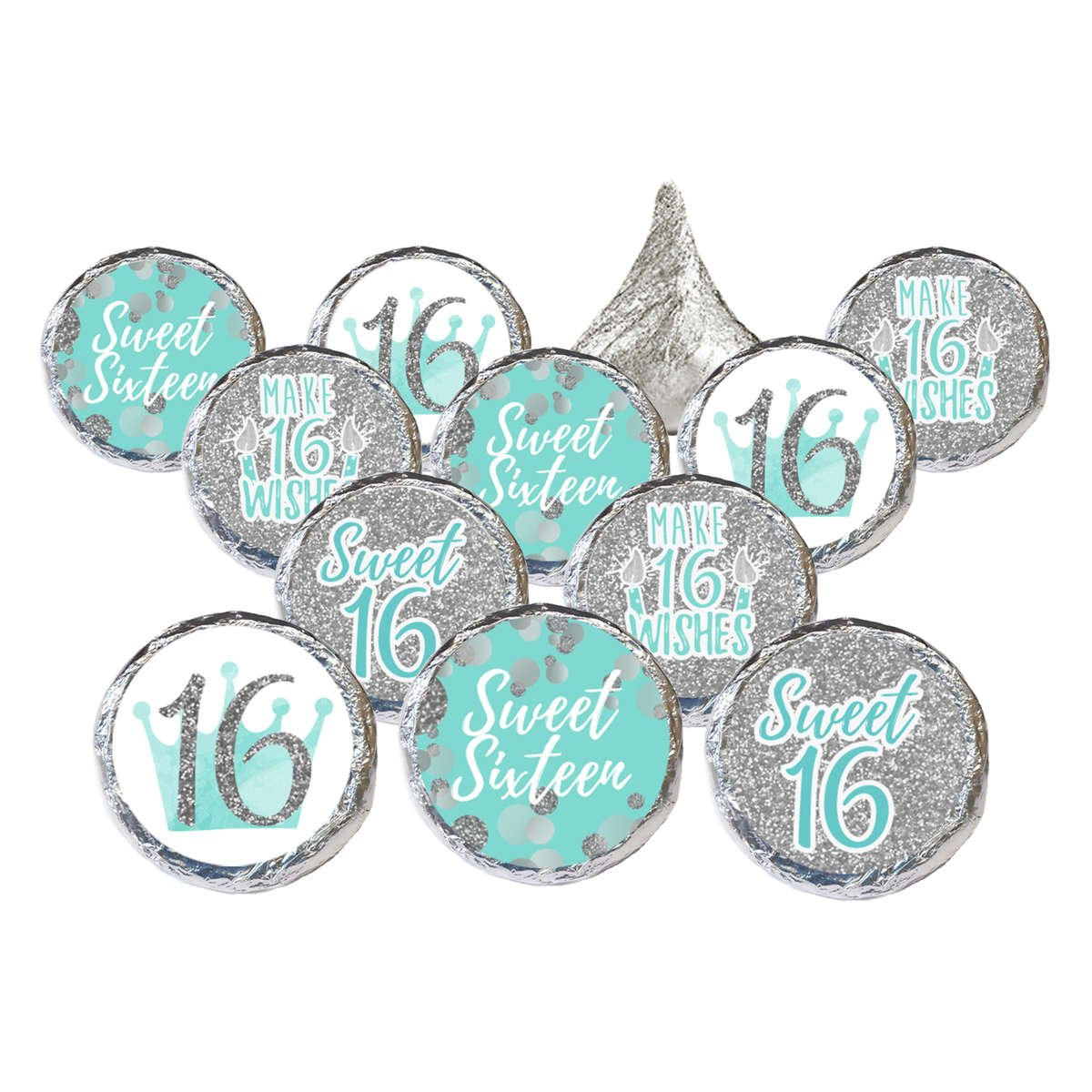 Sweet 16 Teal and SIlver