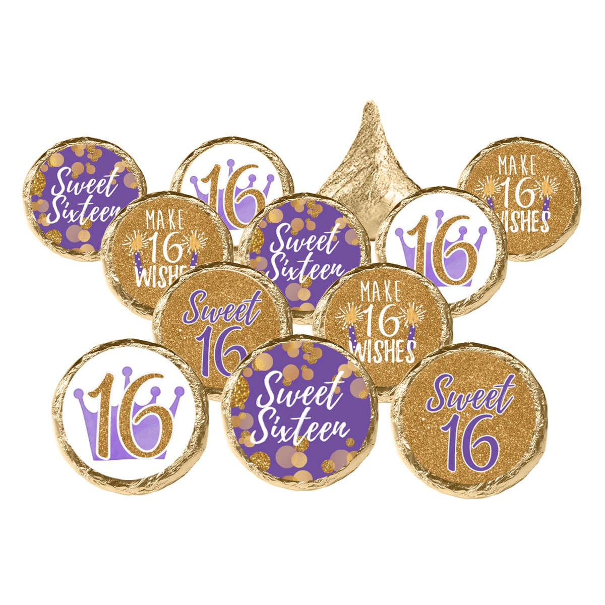 Sweet 16 Gold and Purple