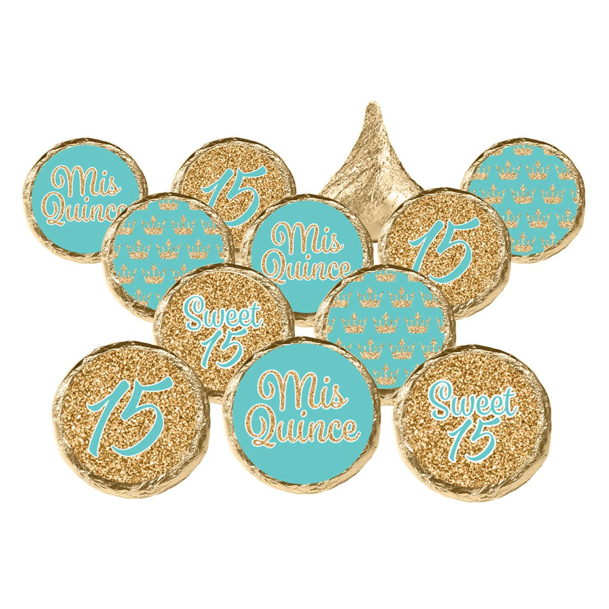 Quinceanera 15th Gold & Turquoise