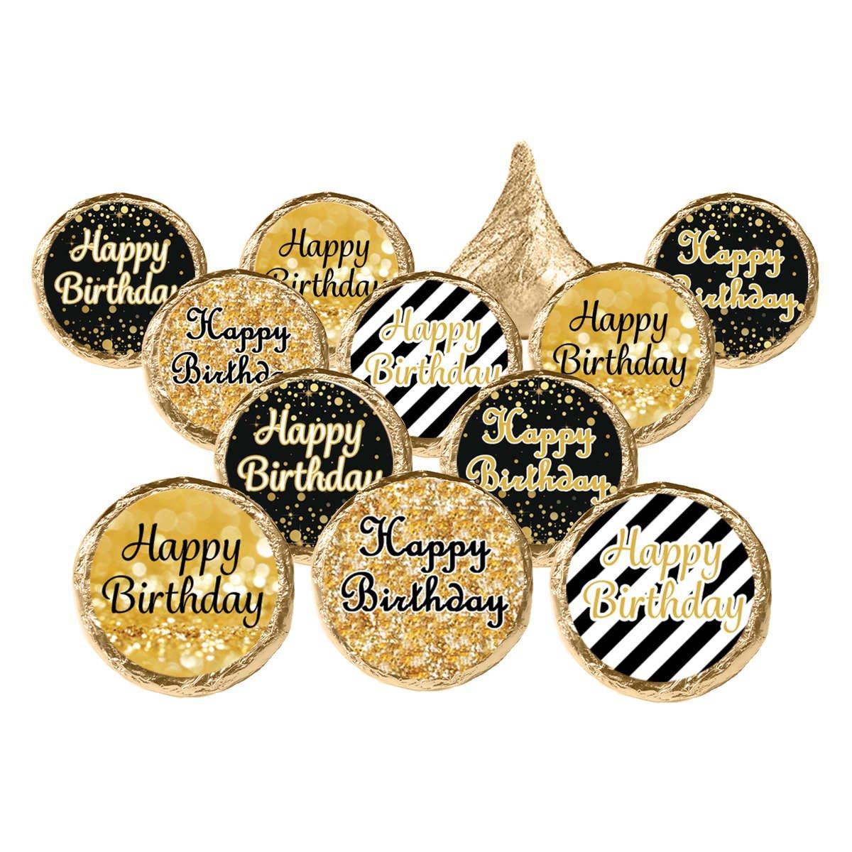 Happy Birthday Black and Gold