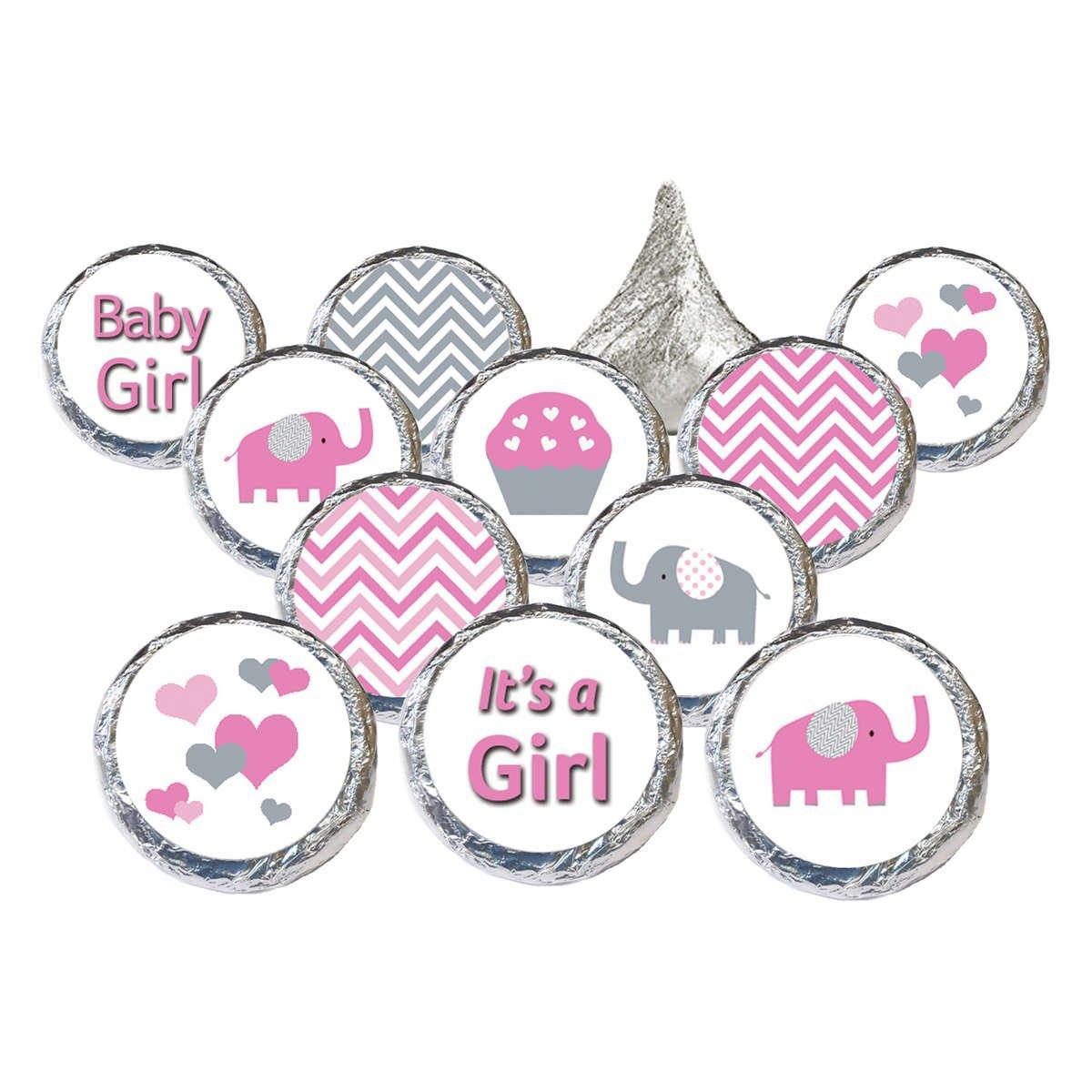 Pink & Gray Elephant