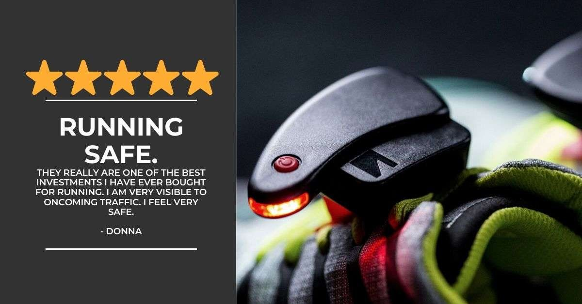 Product Review of Night Runners . Shoe Lights For Runners