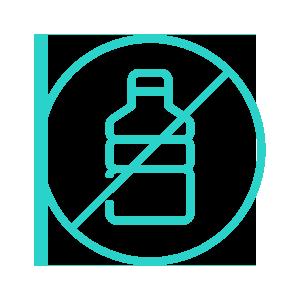 Plastic-free bottle icon