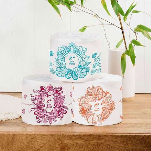 Pure Planet Tree-Free Toilet Tissue Rolls