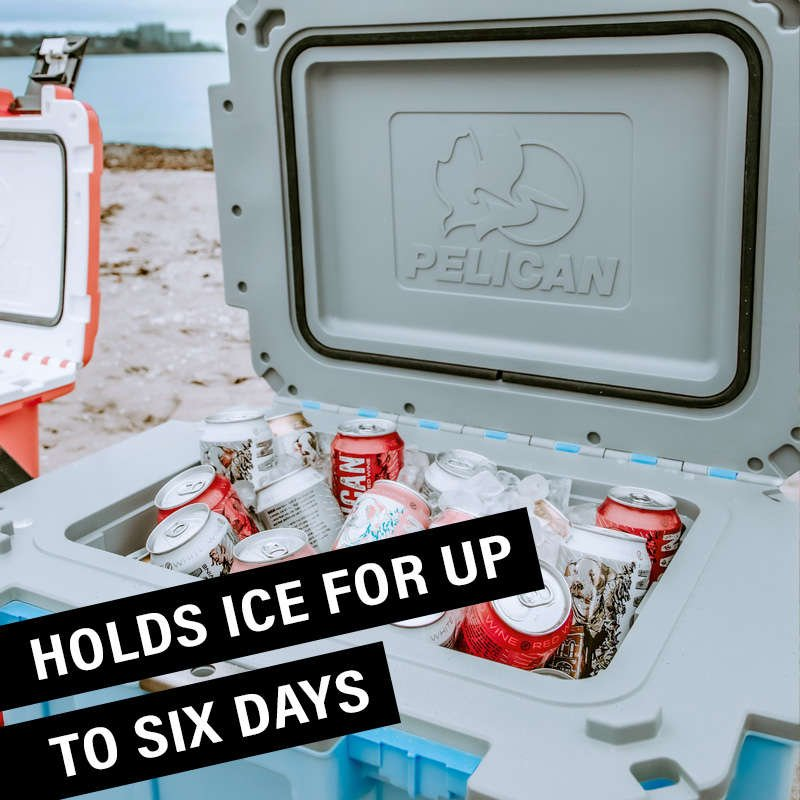 The 30QT Pelican Elite Cooler is perfect for a two person trip.