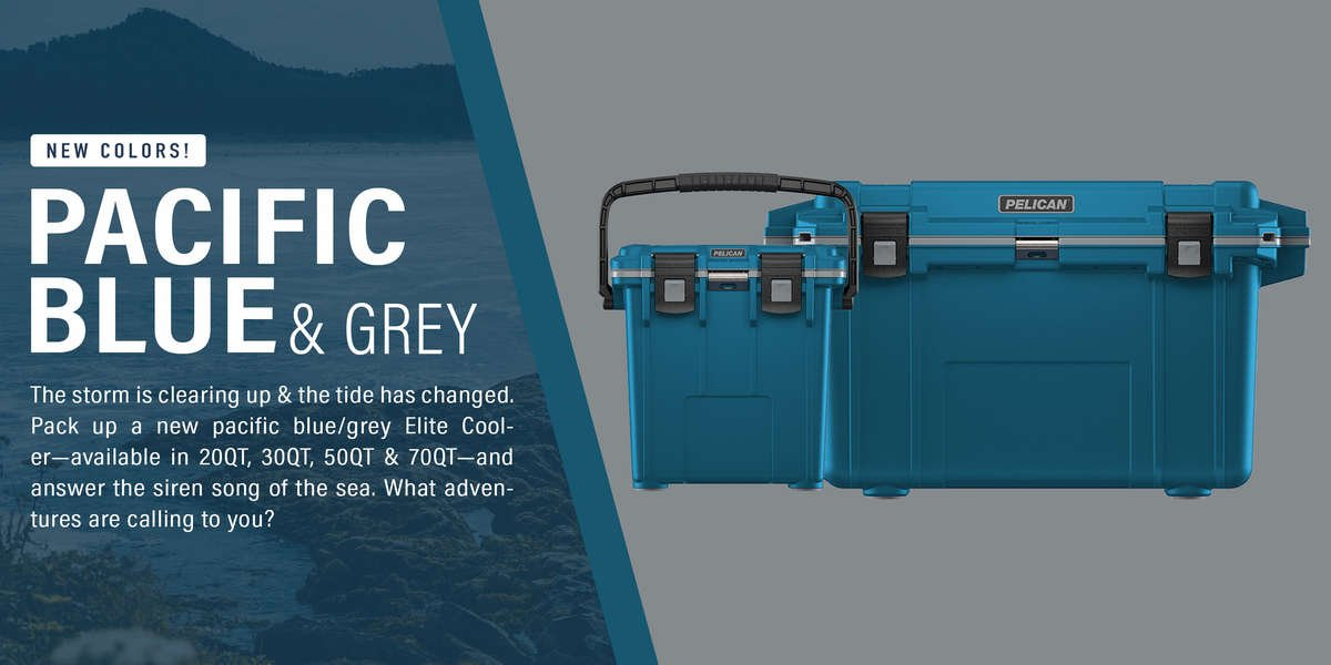 New colors! Pacific Blue/Grey now available at elitecooler.com