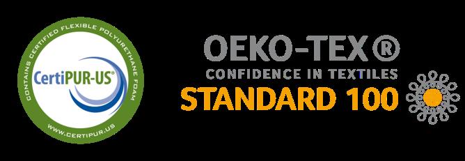 CertiPUR-US + OEKO-TEX