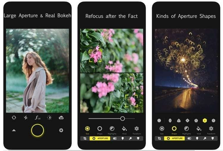 Focos camera app for iPhone
