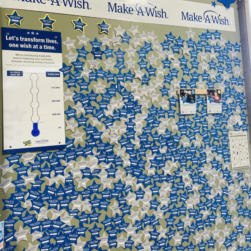 Donation Wall at Our Elk Grove Location