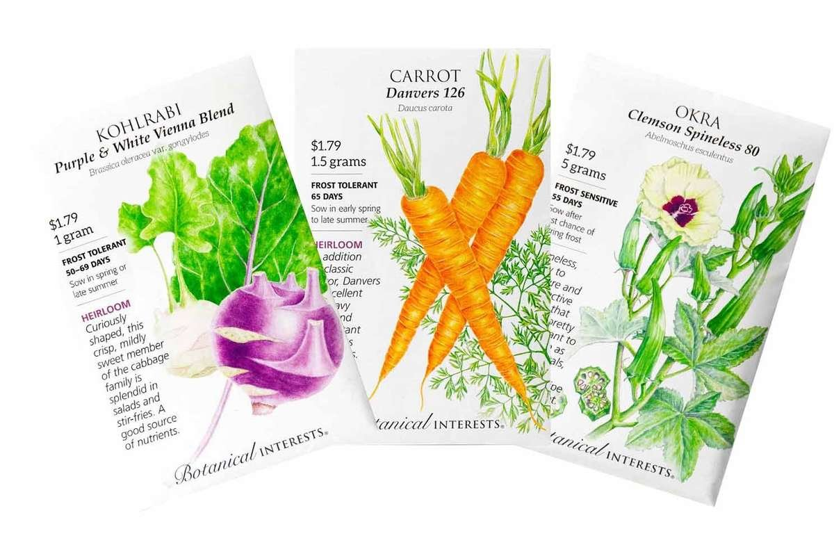 Botanical Interests selection of veggie seed packets