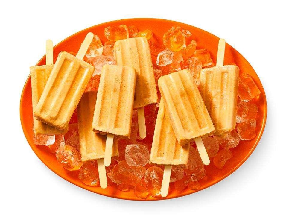 Pumpkin Spice Ice Pops
