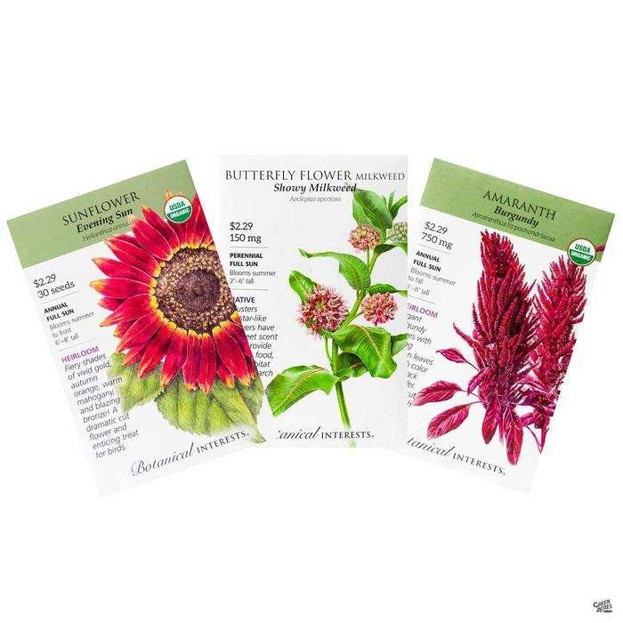 Botanical Interests Flower Seed Packets