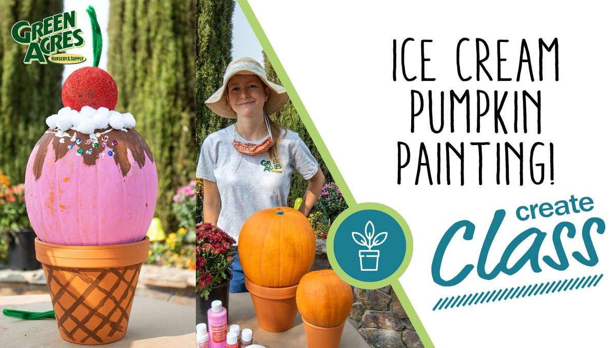 Ice Cream Pumpkin Painting