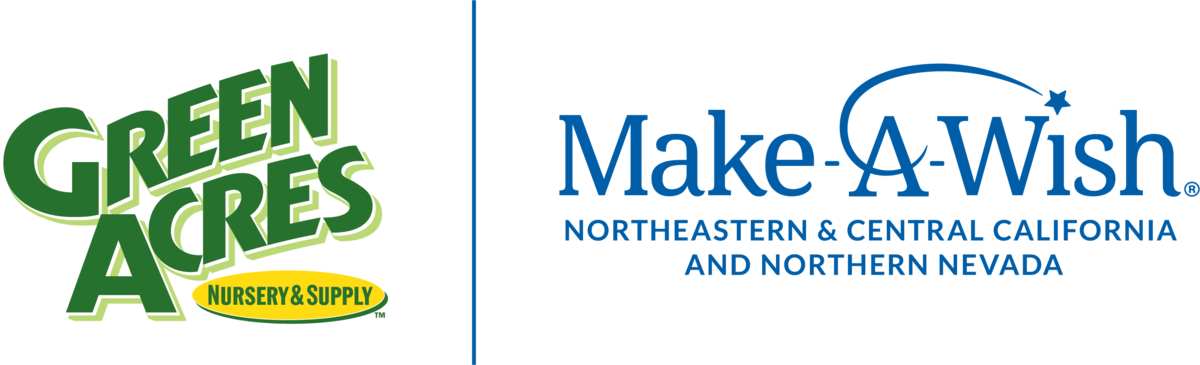 Green Acres logo and Make-A-Wish logo